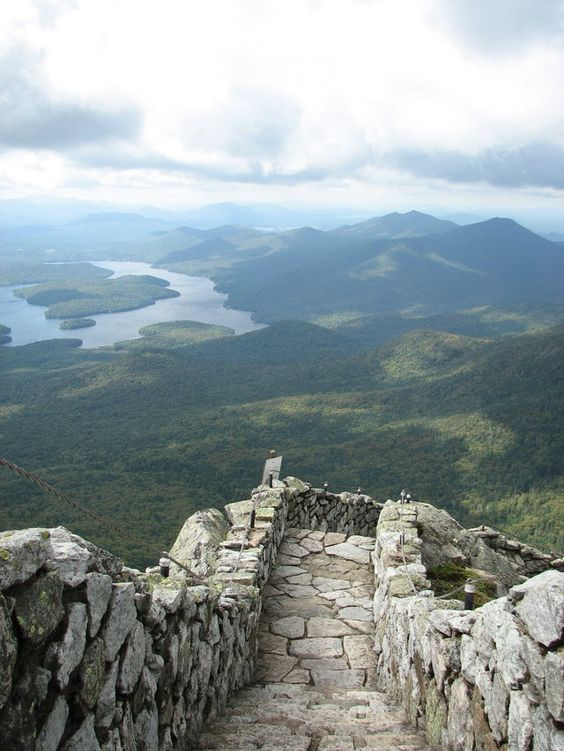 Whiteface Mountain steps, New York State, USA