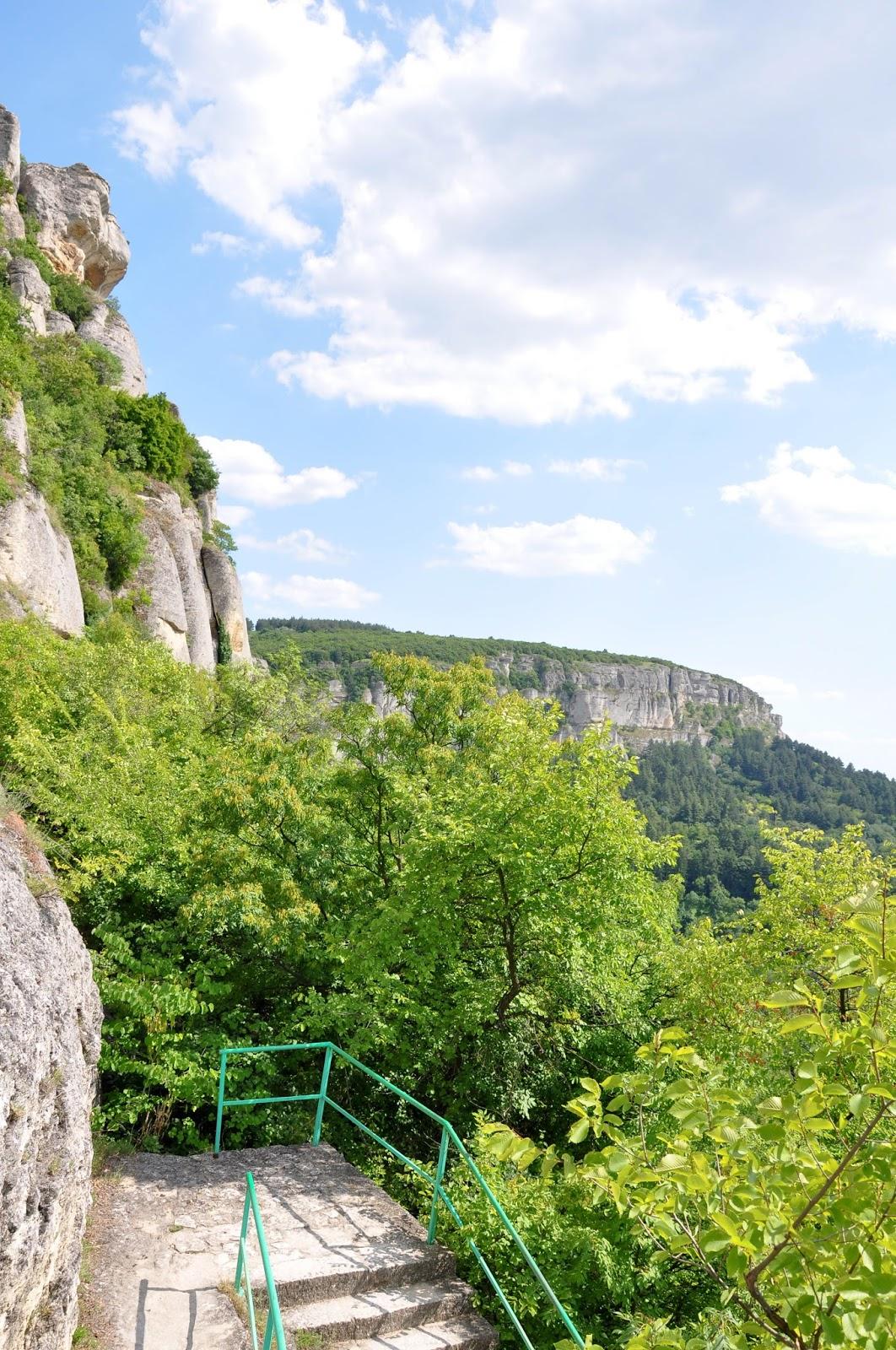 Climbing down the cliffs, Madara, Bulgaria