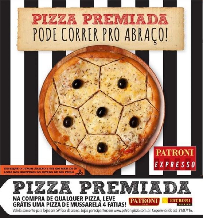 Patroni realiza ação de marketing em jogos na Arena Corinthians