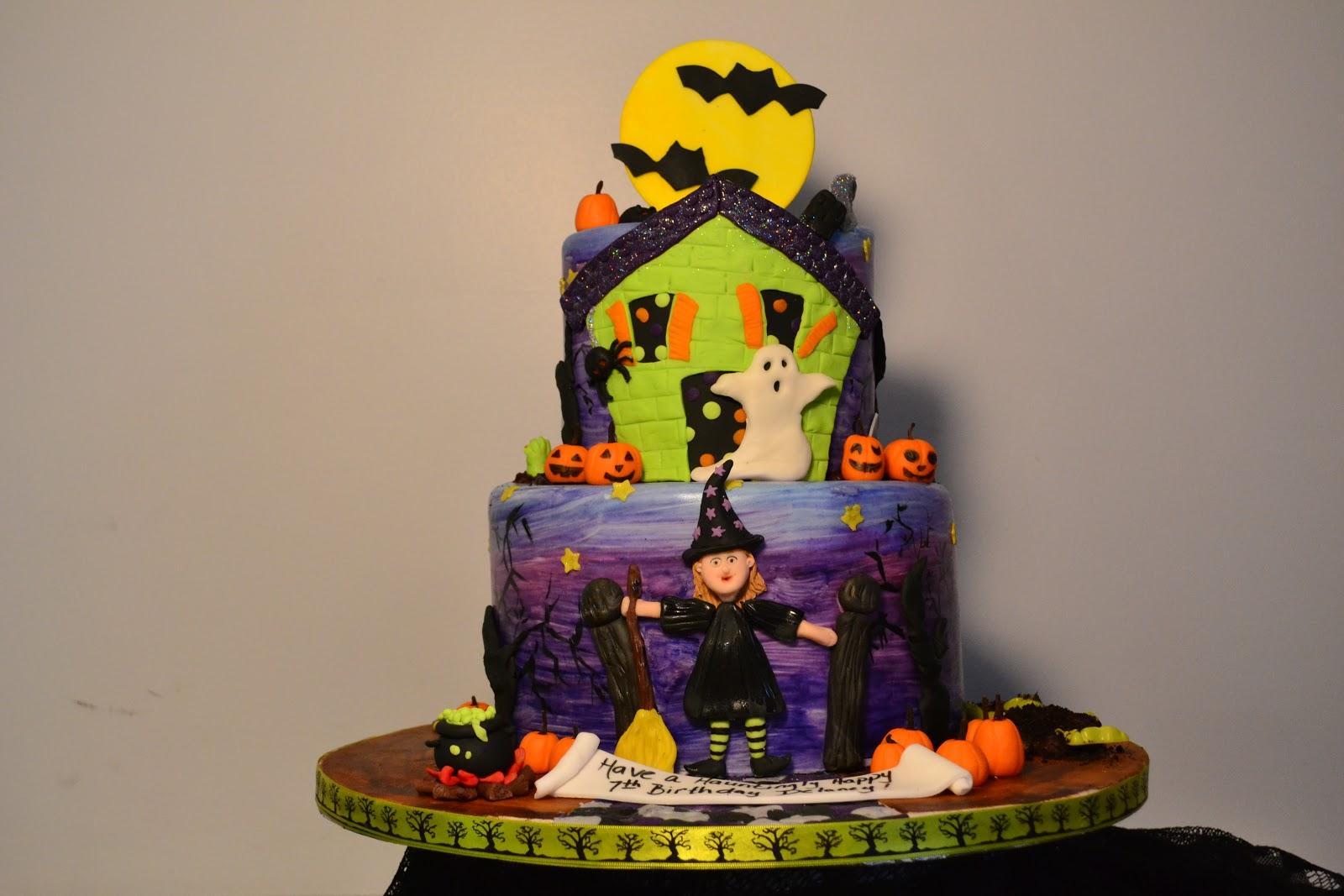 Halloweenbirthday Cake And Cupcakes