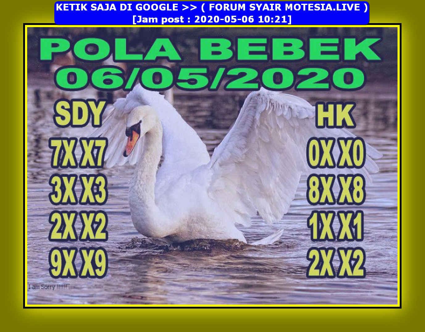 Kode syair Hongkong Rabu 6 Mei 2020 95