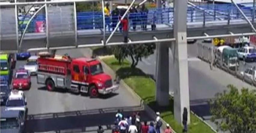 Escolar intentó suicidarse saltando de un puente en Tacna