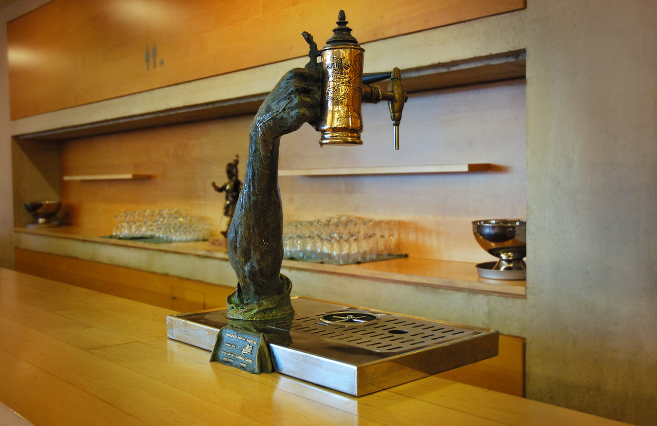 Lorenzo Quinn: Beer Pump Sculpture for Barcelona Auditorium