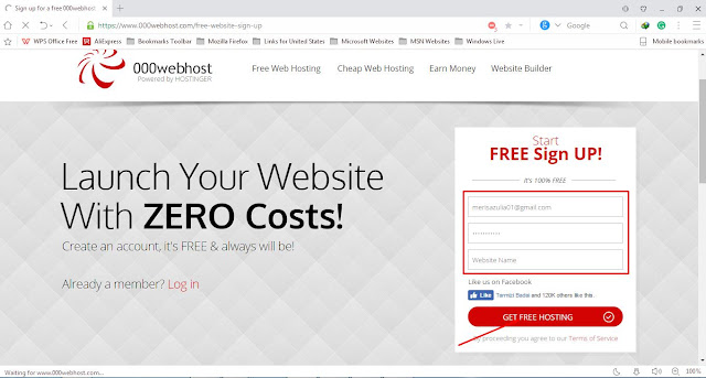 Cara Upload Website Ke Hosting Gratis 000webhost