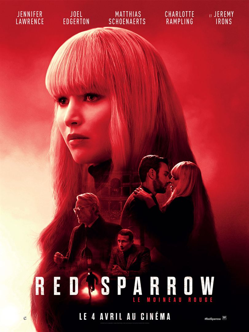 "Red Sparrow Movie Le Moineau Rouge Jennifer Lawrence Poster 14×21/"" 27×40/"" 48×32/"""