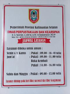 jadwal perpustakaan daerah provinsi kalimantan selatan