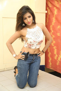Deekshita Parvathi in a short crop top and Denim Jeans Spicy Pics Beautiful Actress Deekshita Parvathi January 2017 CelebxNext (143).JPG