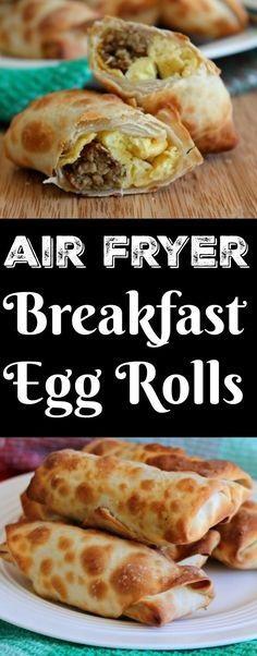 Breakfast Egg Rolls Air Fryer