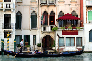 The Al Ponte Antico Hotel, as seen from across The Grand Canal, Venice, Italy