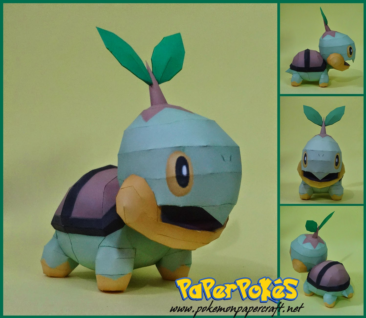 Turtwig Paper Model