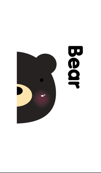 Simple pair Bear(Black)