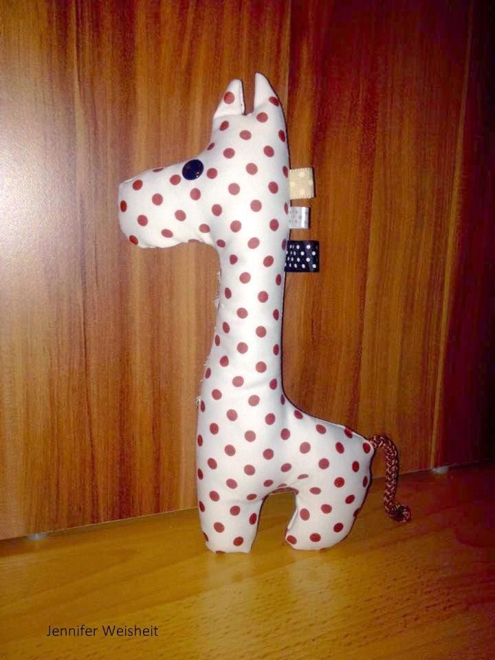 Naehoma - moni: Freebook Schnittmuster Giraffe, Probenähergebnisse