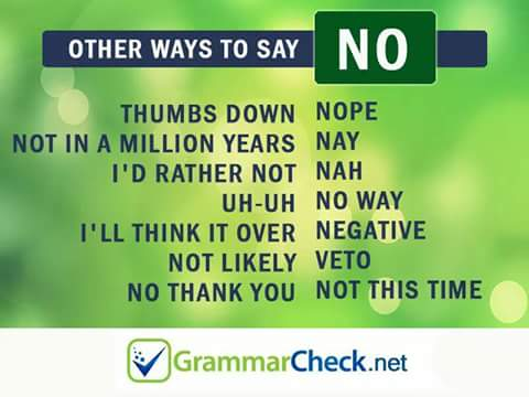 كلمات اخرى بمعنى yes & No