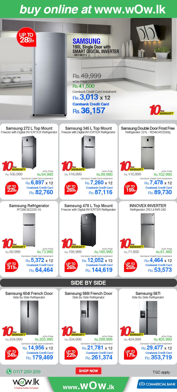 http://www.google.com/url?q=http%3A%2F%2Fwww.wow.lk%2Fmall%2Fbuyonline%2Fhome-appliances-refrigerators%2F%3FNs%3Dsku.inventoryAvailability%257C0%26utm_source%3Ddailymail%26utm_medium%3Dnewsletter%26utm_campaign%3Dinverterfridges&sa=D&sntz=1&usg=AFQjCNERGzX7p1sQjNIpTtKXCtjnKlmAPQ