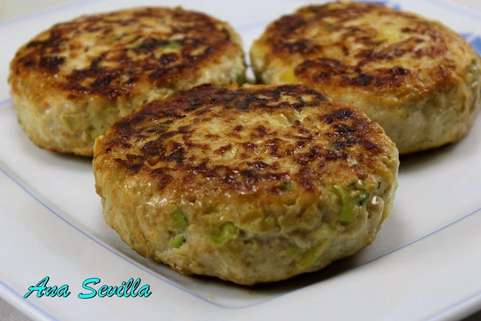 Hamburguesas con verduras Ana Sevilla cocina tradicional