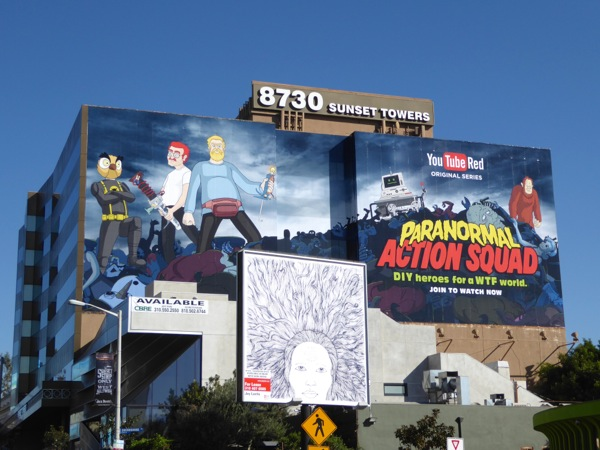 Giant Paranormal Action Squad series premiere billboard