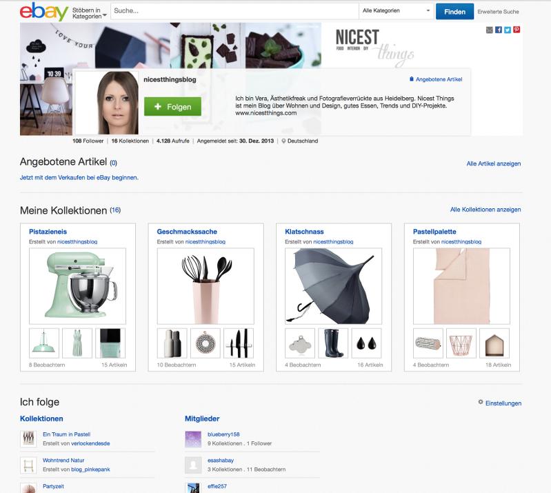 eBay Kollektionen Blogger Nicest Things