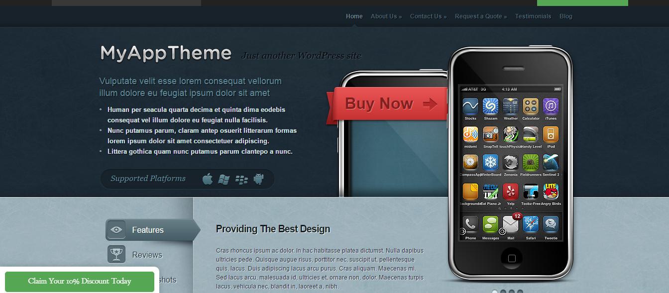 MyApp-App Showcase WordPress Theme