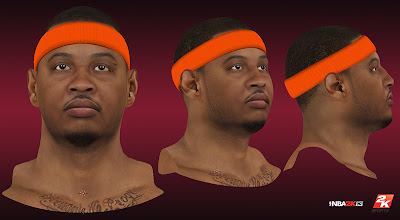 NBA 2K13 Carmelo Anthony HD Cyberface Patch