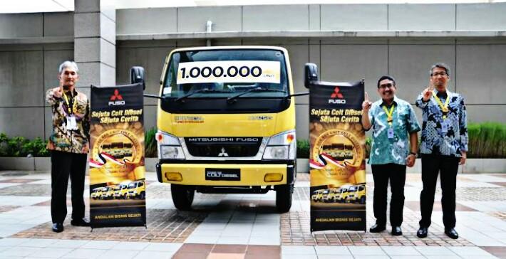 Pencapaian rekor 1juta unit Mitsubishi Fuso