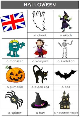 A L Encre Violette Anglais Halloween