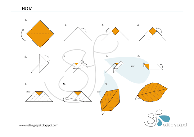 tutorial hojas de origami