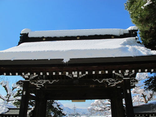Sogenji Temple in snow