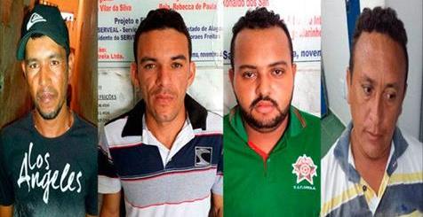 Quatro são presos em Senador, Tapera e Água Branca acusados de assalto a banco no Sertão