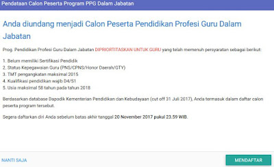 calon peserta ppg