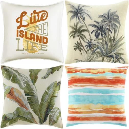 Decorative Island Style Throw Pillows