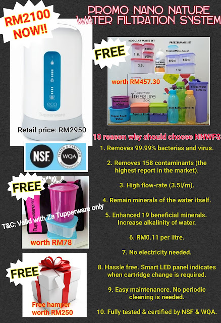 Promo Nano Nature Water Filtration Sytem by Tupperware