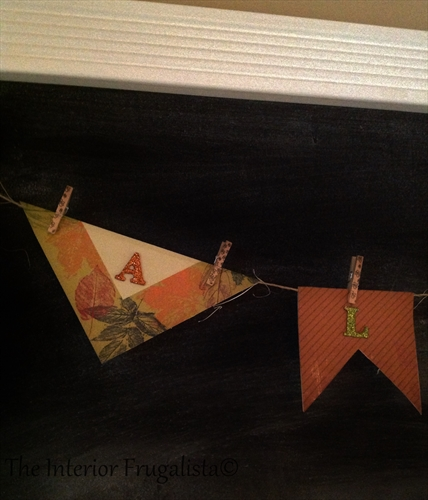 Fall bunting flag banner