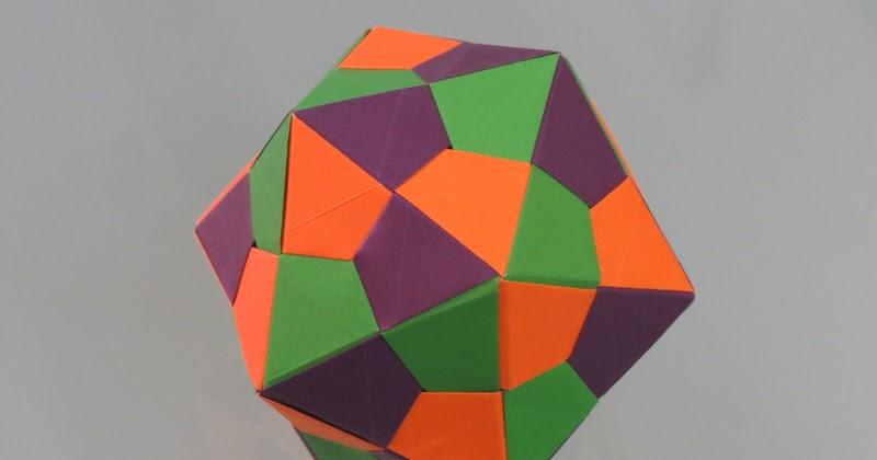 Origami Modular Icosahedron - YouTube | 420x800