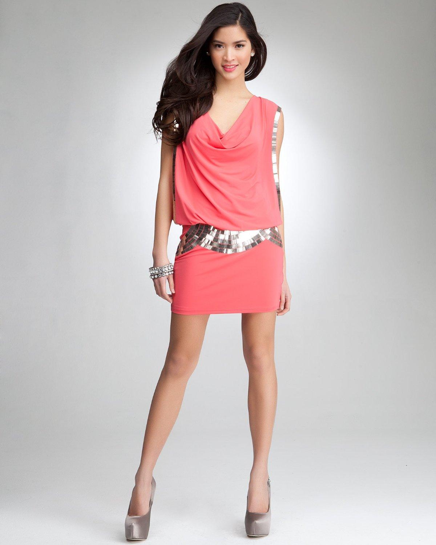Cowl Dress: Dress4Cutelady: Armor Bead Cowl Neck Dress