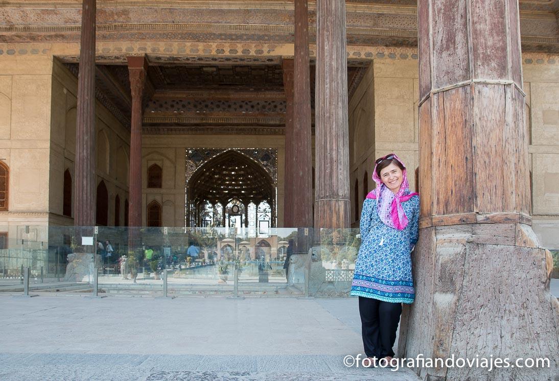 Palacio Chehel Sotoun o de las 40 columnas en Isfahan