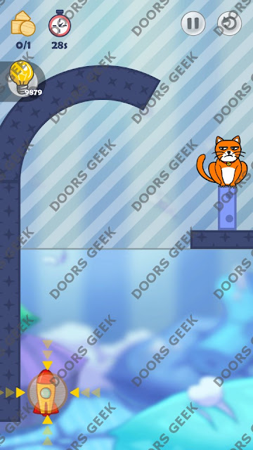 Hello Cats Level 46 Solution, Cheats, Walkthrough 3 Stars for Android and iOS