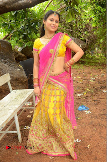 Actress Sumi Ghosh Pictures in Half Saree at Lovers Park Movie Opening  0230.JPG