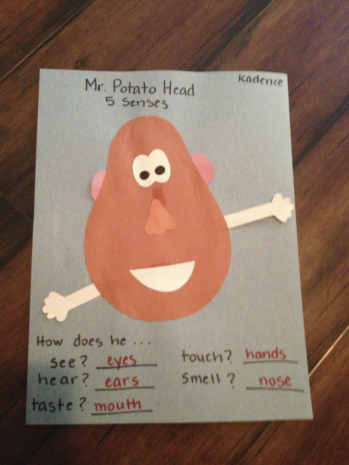 Mr Potato Head Five Senses Pictures To Pin