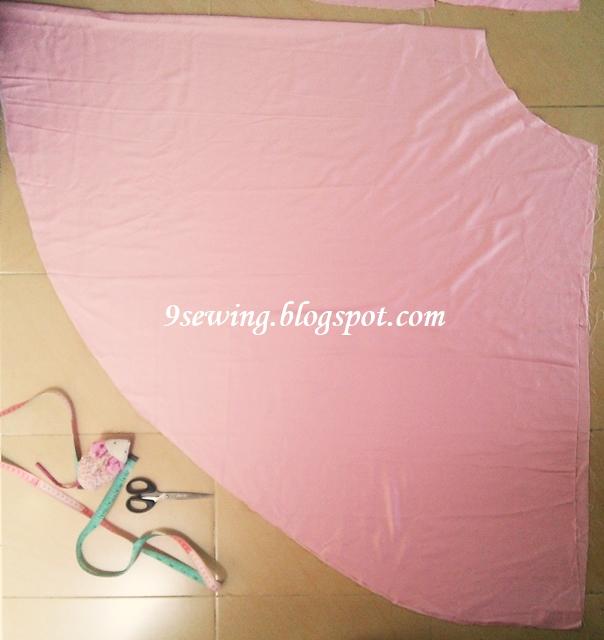 berapa meter kain untuk membuat rok payung