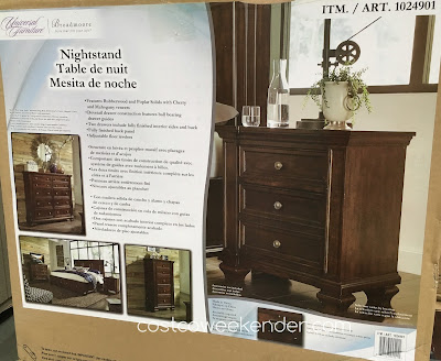 Costco 1024901 - Universal Broadmoore Nightstand - a great accessory to any bedroom