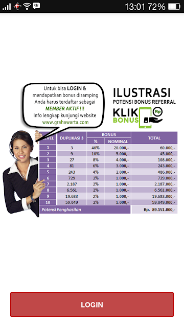 Review Aplikasi Klik bonus