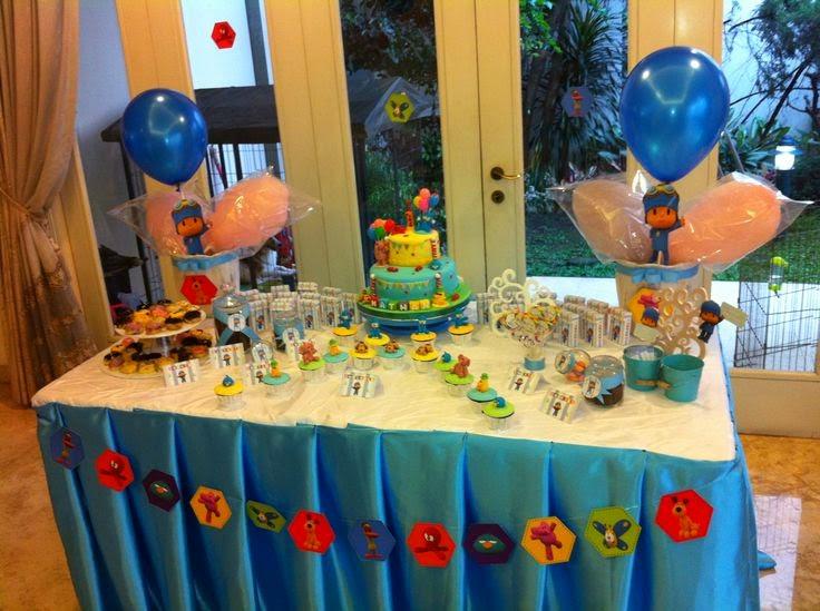 Decoraci n de fiestas infantiles de pocoyo fiestas for Decoracion para pared para cumpleanos