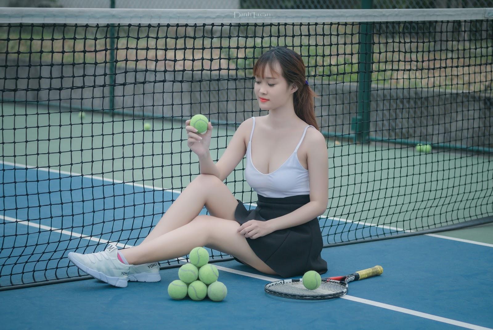 Hot Girl Linh Linh dễ thương trong album Tennis Sexy
