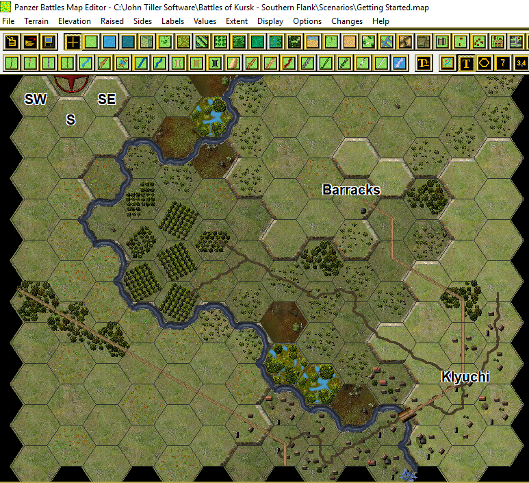 The Sharp End Gaming: Panzer Battles Kursk - Revised Maps on