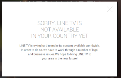 Sorry Line TV is not available in your country yet VPN