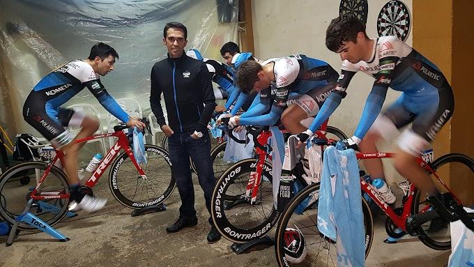 Alberto Contador instruyó a sus chicos del Polartec-Kometa en la preparación de la crono