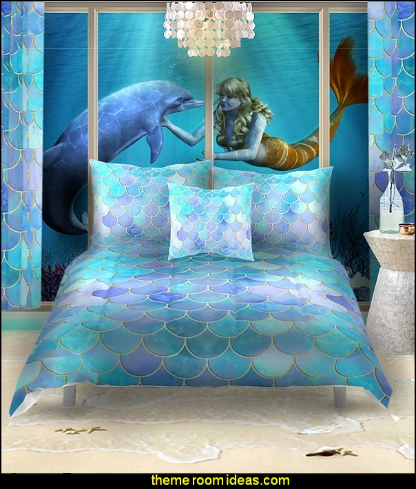 mermaid bedrooms mermaid bedding ocean floor mural   underwater bedroom ideas - mermaid bedroom decor - under the sea theme bedrooms - mermaid theme bedrooms - underwater bedroom decor - clamshell bed - sea life bedrooms - Little mermaid princess Ariel - mermaid bedding - Disney's little mermaid - mermaid murals - mermaid wall decal stickers - Sponge Bob theme bedrooms - ocean murals - ocean bedding