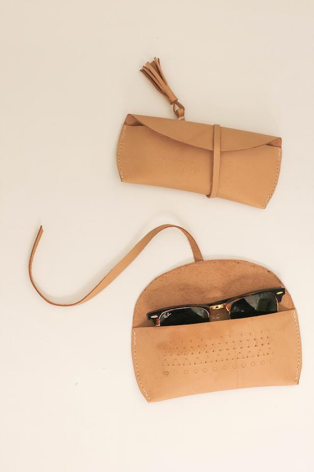 Leather Sunglasses Case - Always Rooney
