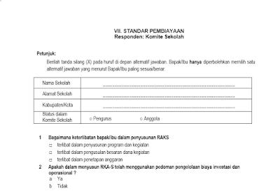 Download Instrumen Evaluasi Diri Sekolah Eds Sd Smp Sma Smk