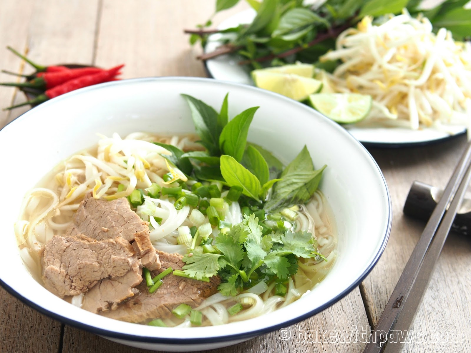 Vietnamese Pho Bo (Vietnamese Beef Noodle Soup) - BAKE WITH PAWS
